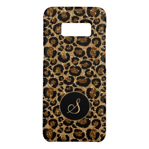Trendy leopard pattern with glitters Phone Case