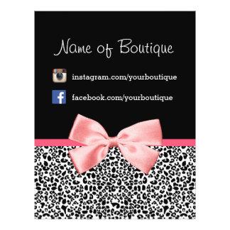Trendy Leopard Pink Ribbon Promotional Marketing Flyer