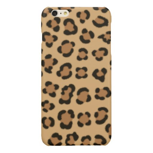 Trendy Leopard Print Design Glossy iPhone 6 Plus Case