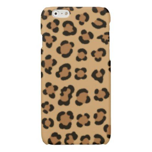 Trendy Leopard Print Design Glossy iPhone 6 Case