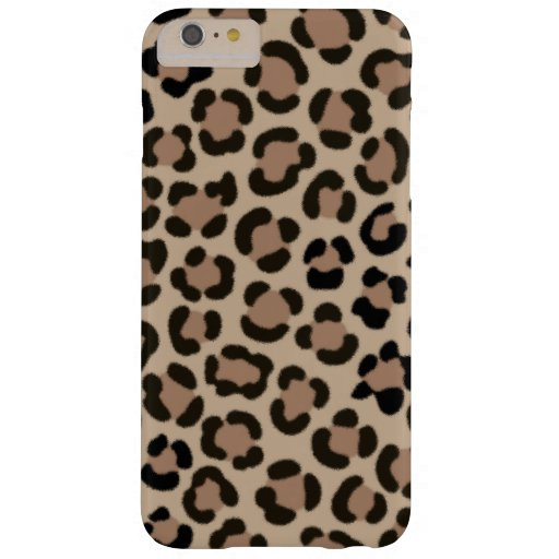 Trendy Leopard Print Fur Effect Pattern Barely There iPhone 6 Plus Case