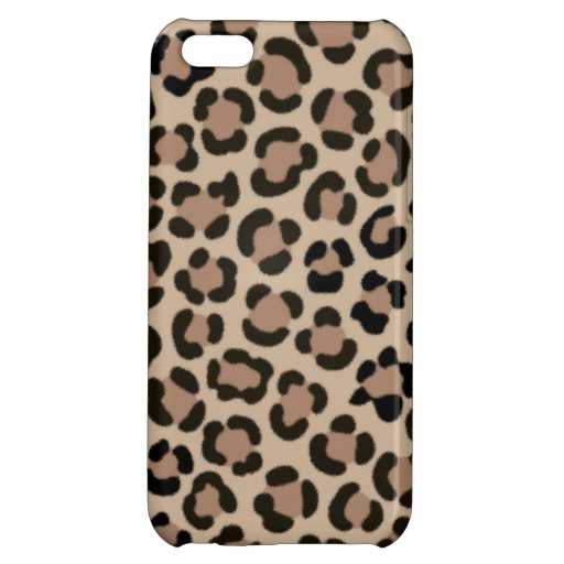 Trendy Leopard Print Fur Effect Pattern Case For iPhone 5C