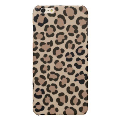 Trendy Leopard Print Fur Effect Pattern Glossy iPhone 6 Plus Case