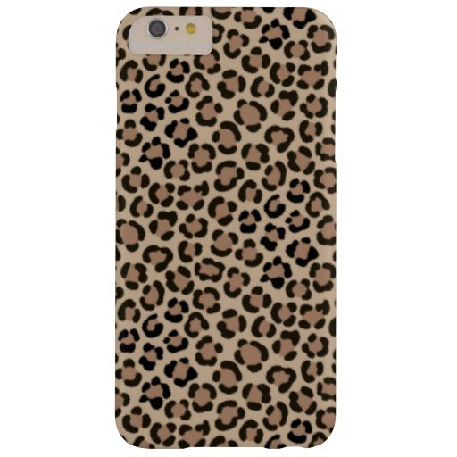 Trendy Leopard Print Fur Effect Repeat Pattern Barely There iPhone 6 Plus Case
