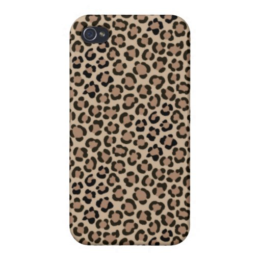 Trendy Leopard Print Fur Effect Repeat Pattern Case For iPhone 4