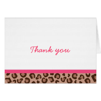 Trendy Leopard Print Jungle Thank You Note Cards