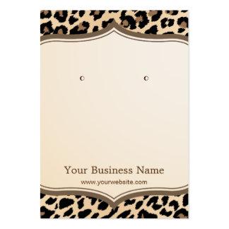 Trendy Leopard Print Pattern Earring Display Cards
