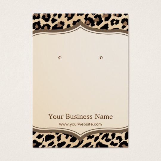 Trendy Leopard Print Pattern Earring Display Cards