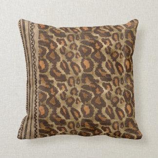 Trendy Leopard Print Pattern Pillow