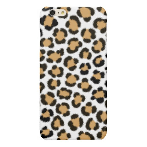 Trendy Leopard Simulated Fur Effect Pattern Glossy iPhone 6 Plus Case