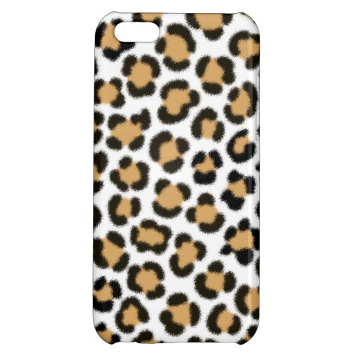 Trendy Leopard Simulated Fur Effect Pattern Case For iPhone 5C