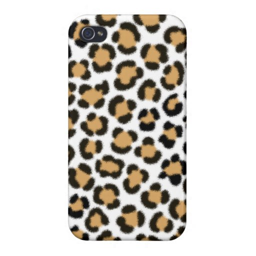 Trendy Leopard Simulated Fur Effect Pattern Case For iPhone 4