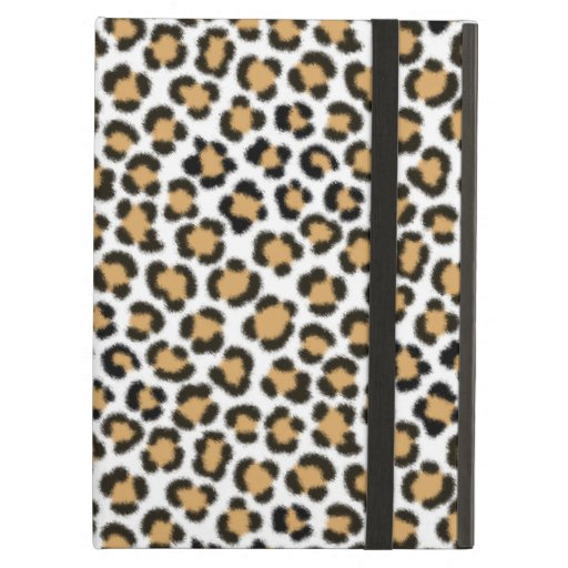 Trendy Leopard Simulated Fur Effect Repeat Pattern Case For iPad Air