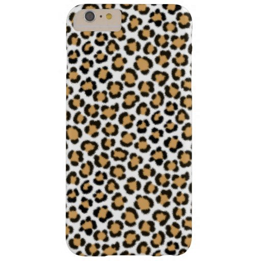 Trendy Leopard Simulated Fur Effect Repeat Pattern Barely There iPhone 6 Plus Case