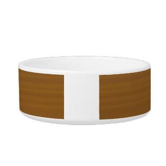 Trendy Light Brown Wood Grain Pattern Pet Food Bowls