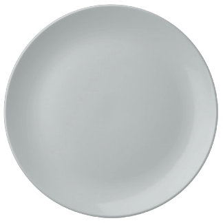 Trendy Light Gray Solid Color Porcelain Plate