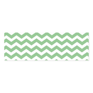 Trendy lime green chevron zigzag pattern, classic, Double-Sided mini business cards (Pack of 20)