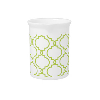 Trendy Lime Green Pattern Drink Pitcher