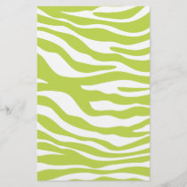 Trendy Lime Green Zebra Print Pattern