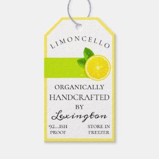 Trendy Limoncello Bottle Hang Tag  