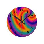 Trendy line pattern wall clock