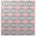 Trendy Lines Pattern In Red And Black On White Cloth Napkins