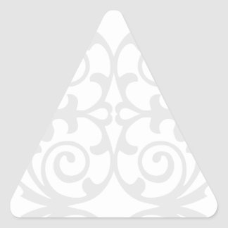 Trendy Lite Gray Damask Pattern Triangle Sticker