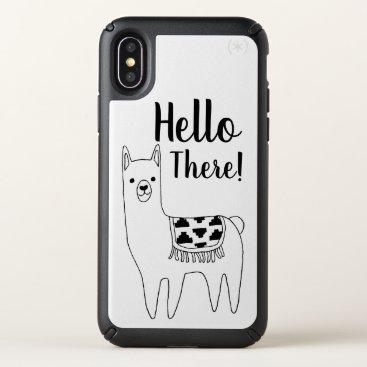 GrudaHomeDecor Trendy Llama Sketch Hello There Speck iPhone X Case