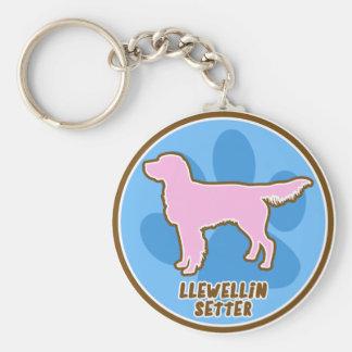 Trendy Llewellin Setter Basic Round Button Keychain