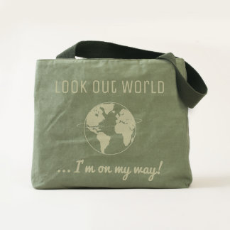 Trendy Look Out World Tote