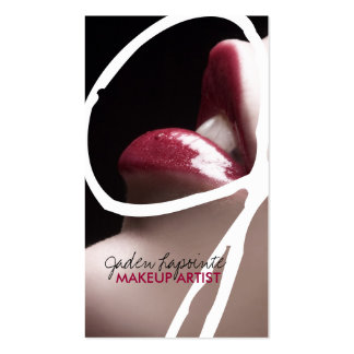 Trendy Makeup Artist Business Cards
