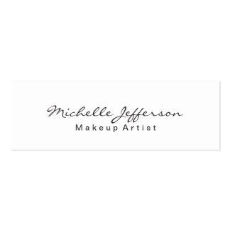 Trendy Makeup Artist White Script Business Card