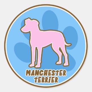 Trendy Manchester Terrier Classic Round Sticker