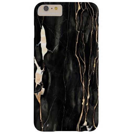 Trendy Marble Pattern Black Gold Gray Barely There iPhone 6 Plus Case