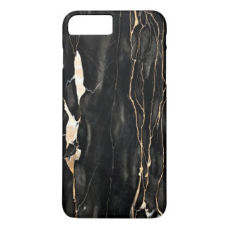 Trendy Marble Pattern Black Gold Gray iPhone 7 Plus Case