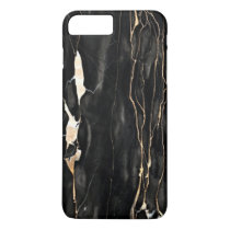 Trendy Marble Pattern Black Gold Gray iPhone 8 Plus/7 Plus Case