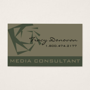 Colour consultant business cards templates zazzle trendy media consultant designer quartz moss business card reheart Choice Image