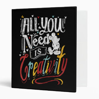 Trendy Mickey | All You Need Is Creativity Binder