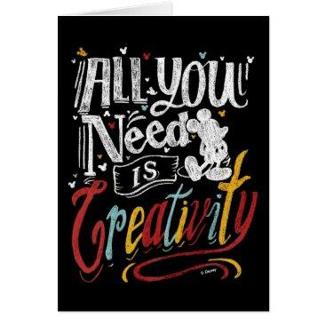 Disney Themed Trendy Mickey | All You Need Is Creativity Card