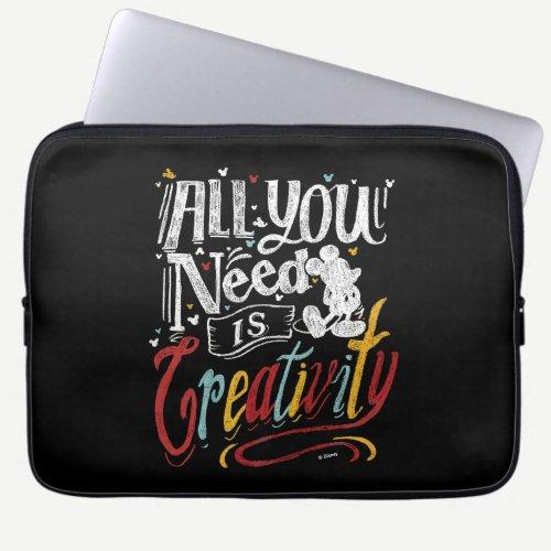 Trendy Mickey | All You Need Is Creativity Laptop Sleeve