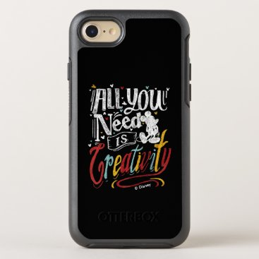 Disney Themed Trendy Mickey | All You Need Is Creativity OtterBox Symmetry iPhone 7 Case