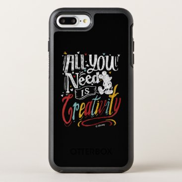 Disney Themed Trendy Mickey | All You Need Is Creativity OtterBox Symmetry iPhone 7 Plus Case