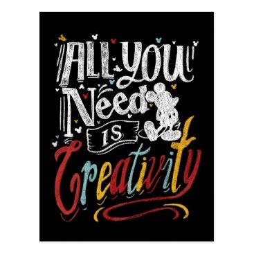 Disney Themed Trendy Mickey | All You Need Is Creativity Postcard