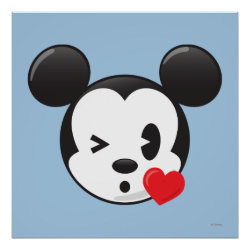 Trendy Mickey | Flirty Emoji Poster