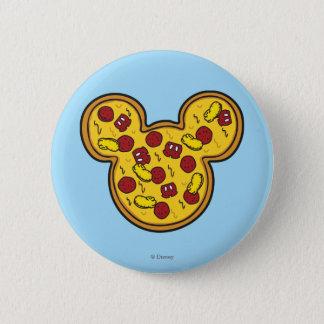 Trendy Mickey | Head-Shaped Pizza Button