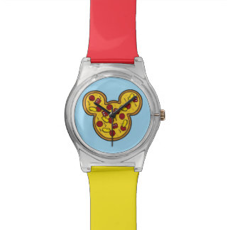 Trendy Mickey | Head-Shaped Pizza Wristwatches
