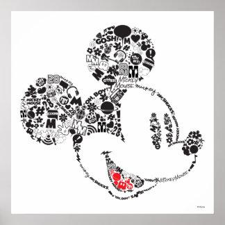 Trendy Mickey | Icons & Phrases Poster