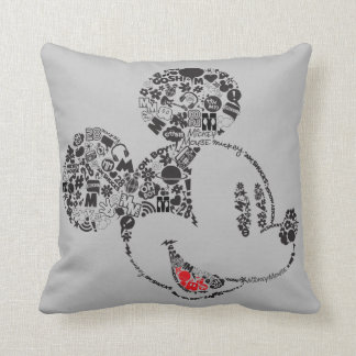 Trendy Mickey | Icons & Phrases Throw Pillow