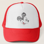 "Trendy Mickey | Icons &amp; Phrases Trucker Hat<br><div class=""desc"">The silhouette of Mickey Mouse made up of famous icons and phrases.</div>"