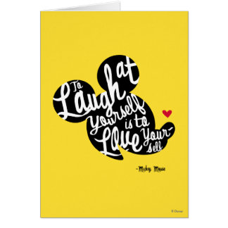 Trendy Mickey | Laugh At Yourself Card
